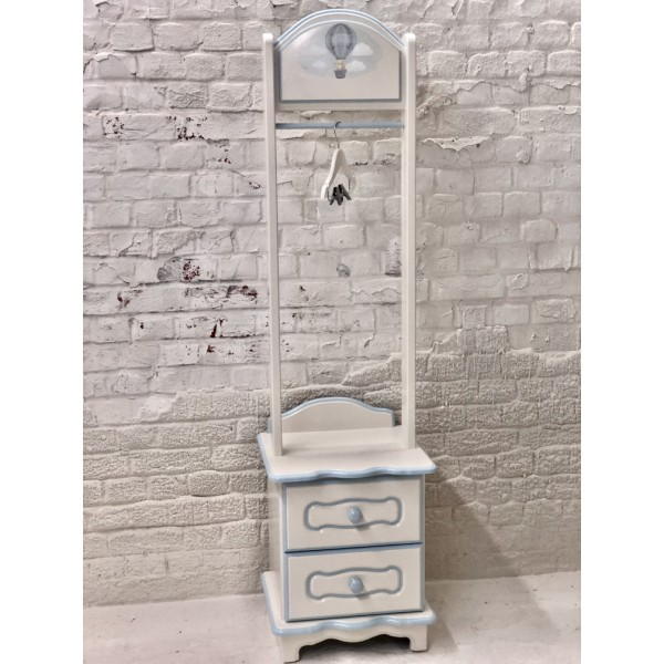 3ft Ballet Bear Toy Box with Pink Ribbons Personalised
