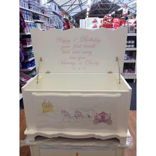 Princess Carriage Toy Box 3ft Inc Message