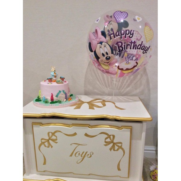 2ft6 Personalised Toybox With Gold Bows