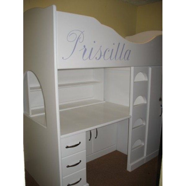 Workstation High Sleeper Theme Bed For Priscilla