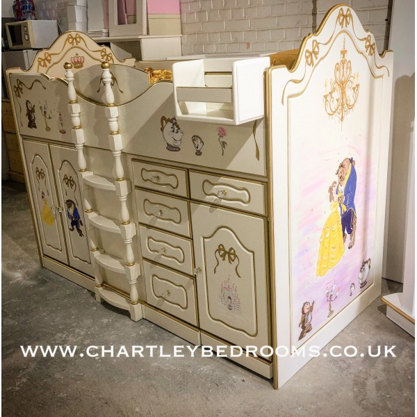 Beauty And The Beast Magical Girls High Sleeper Bed