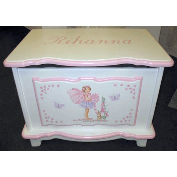 Clemma Fairy 2ft Personalised Toy Box