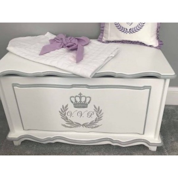 Crest And Initials Personalised Toybox Including Name