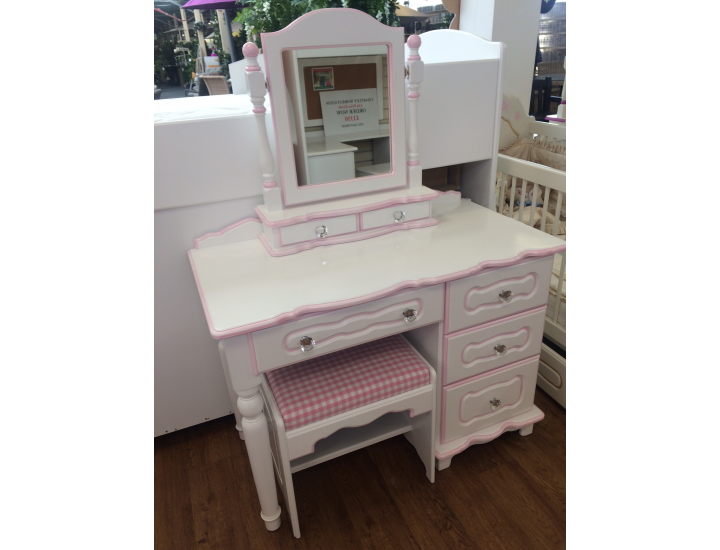Delicieux Dressing Table 4 Drawers With Crystal Knobs   Trimmed