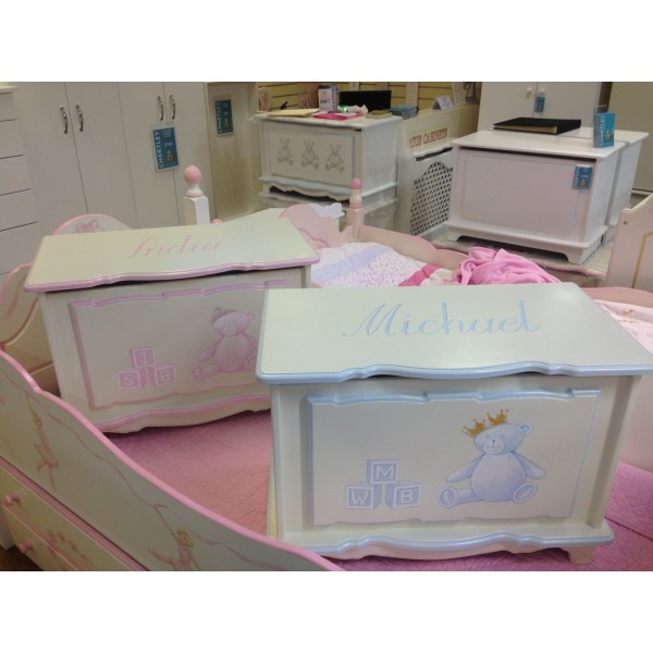 Toy Boxes For Twins!  Personalised