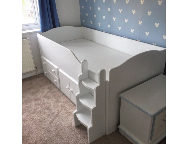 p be cabin dynamo supersize ladder grey beds dark can either fitted bed side