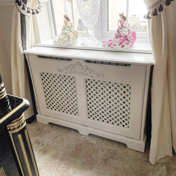 Bespoke Radiator Cover Cabinet With Attached Moulding