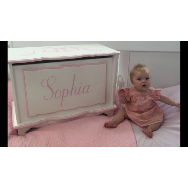 "Toy Box 30"" With Big Bow For Sophia"