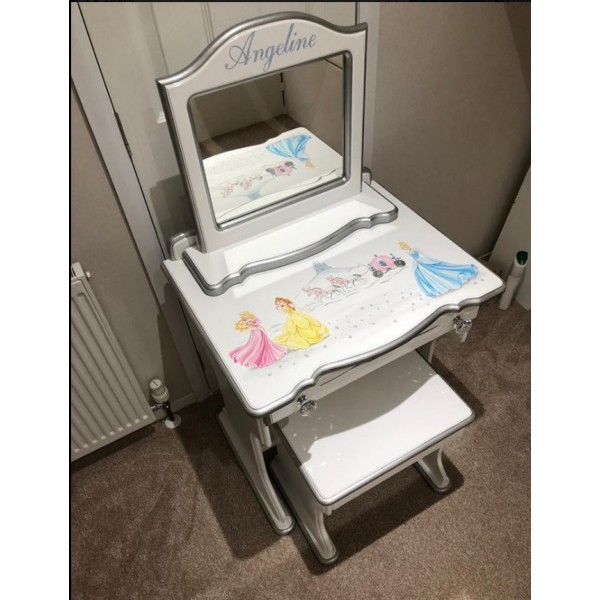 Princess Small Dressing Table With Stool And Mirror