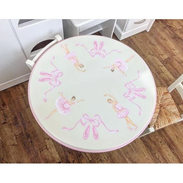 Toddler Table With 2 Chairs Ballet Artwork Very Strong