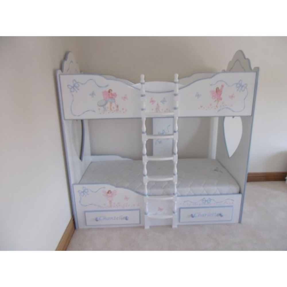 Bunk Beds 3ft Fancy Style Clemma Hand Painting