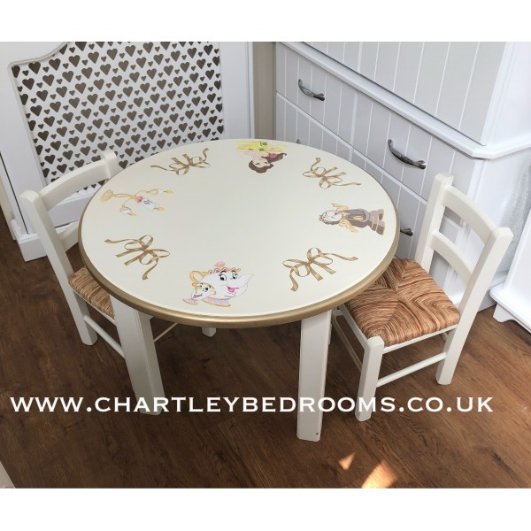 Table And 2 Little Chairs Beauty And The Beast
