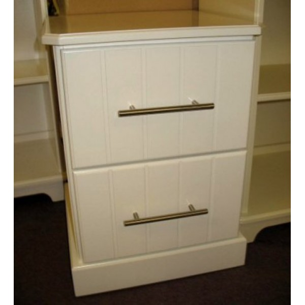 Bedside 2 Drawer Contempo Style