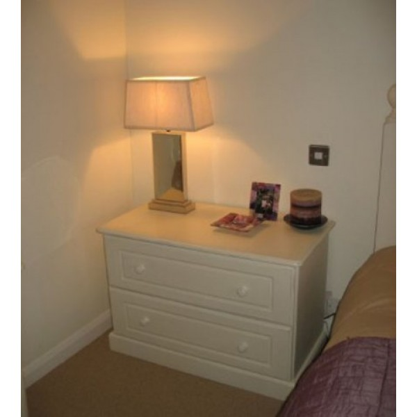 Bedside Chest 2 Wider Drawers