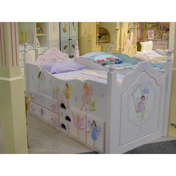 Cabin Bed With Posts 'Fairies & Angels'