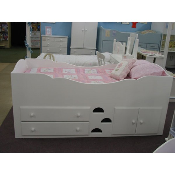 Cabin Bed Plain & Simple Pure White