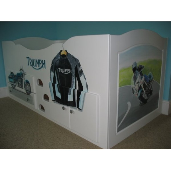 Cabin Bed Triumph Motorbike Artwork