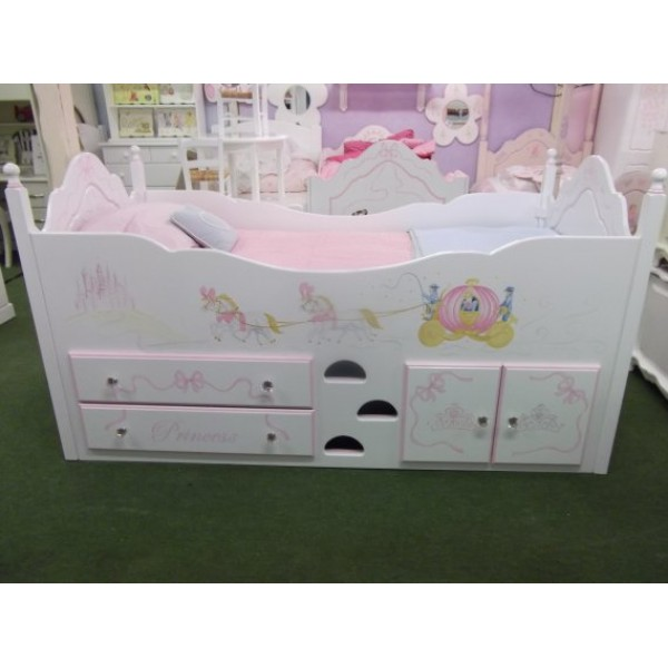 Cabin Princess Carriage Bed With Crystals