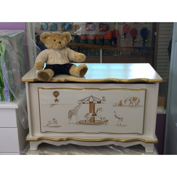 Carousel Toy Box With Gold Edging Colour 3ft
