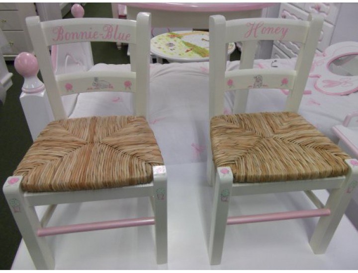 hand made bespoke personalised childrens chairs made in kent england