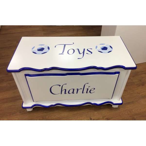 3ft Personalised Toy Box Football Theme