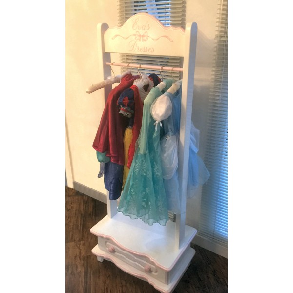 Clothes Rail With Drawer And Artwork