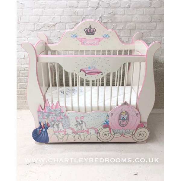 Cinderella Carriage Bespoke Cot With Drawer