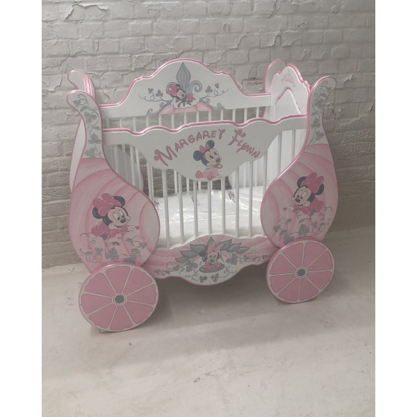 Small Bespoke Cot With Minnie Artwork