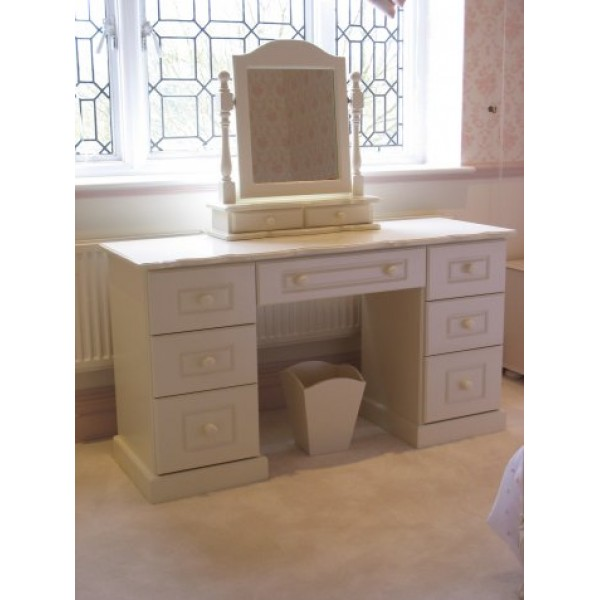 Girls Dressing Table & Mirror Off-White
