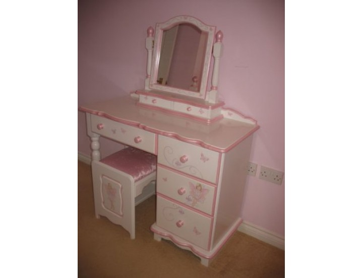Girls Dressing Table ~ Hand made bespoke personalised childrens dressing tables