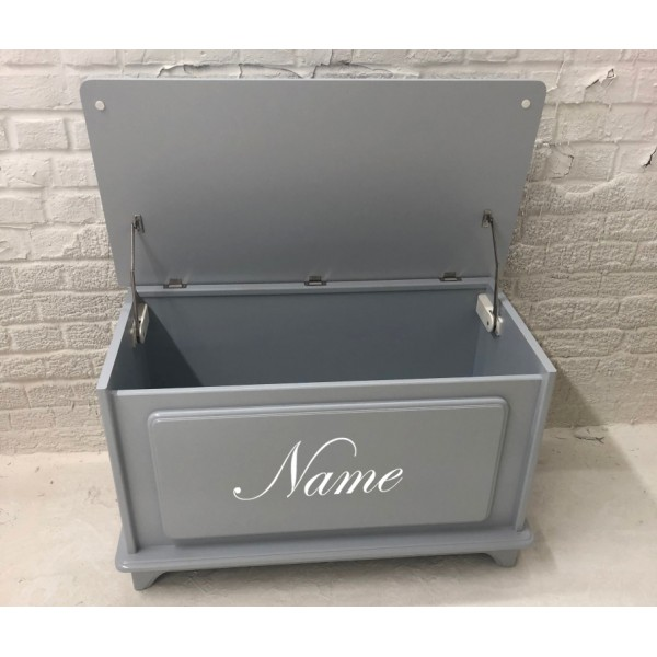 Grey Personalised Toy Box