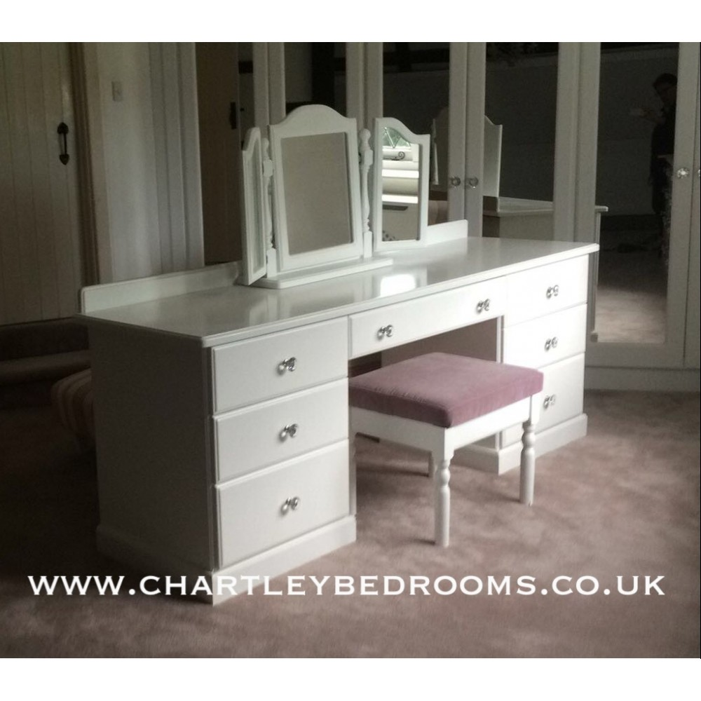 new product 18342 dd267 Dressing Table With 7 Drawers & Crystal Knobs Bespoke Size