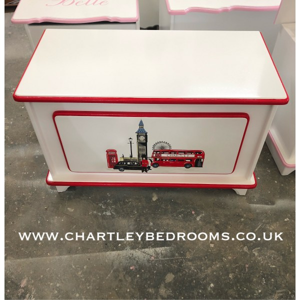 3ft Toybox With Detailed London Art