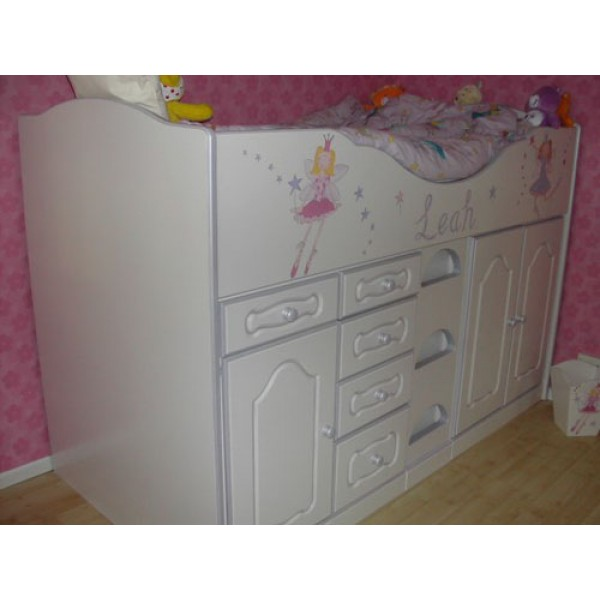 High Sleeper Cabin Bed Plain Ends Funky Fairies For Leah