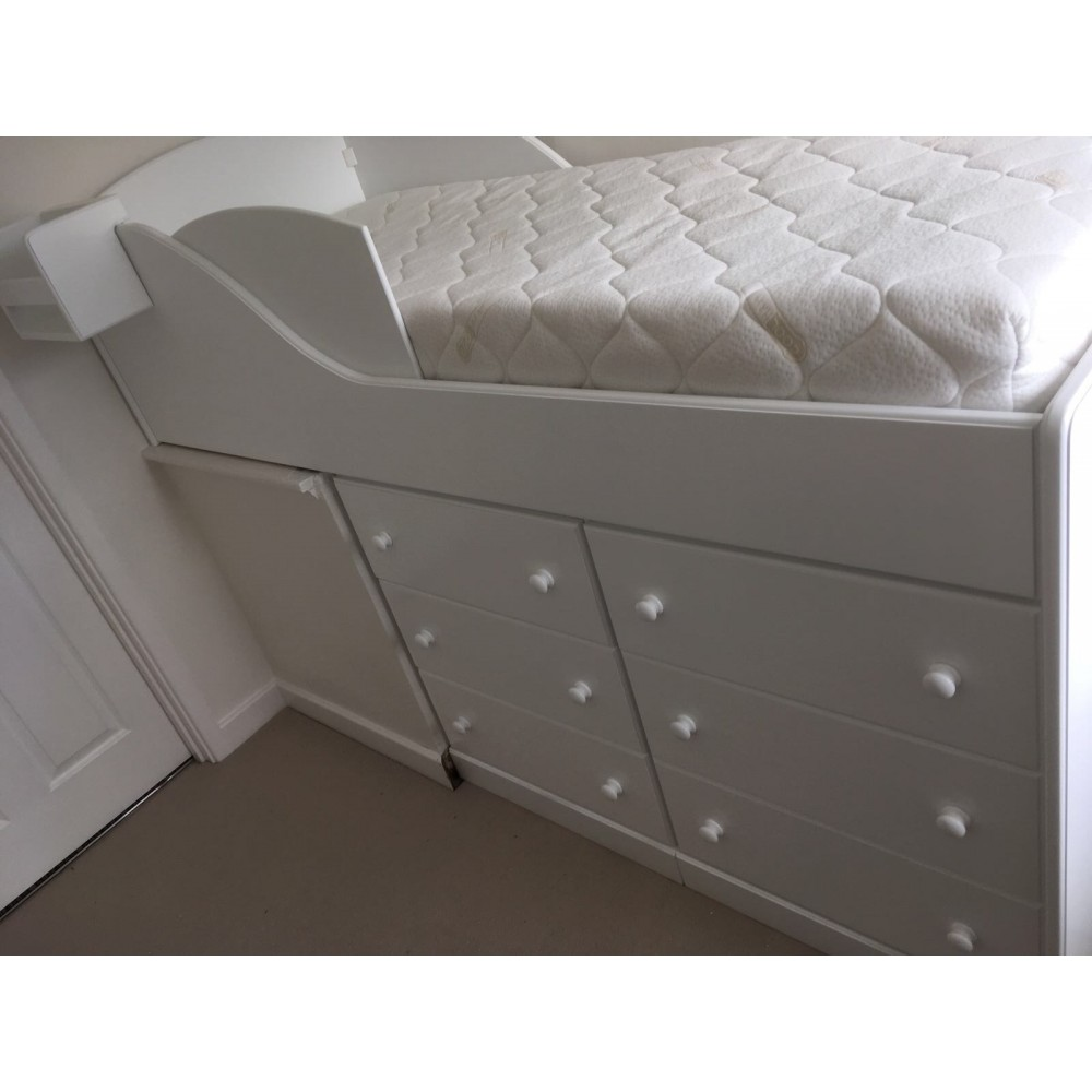 Bed Over Stair Box Google Search: Mid Sleeper Bed For Older Children Over Stair Well Bulk Head