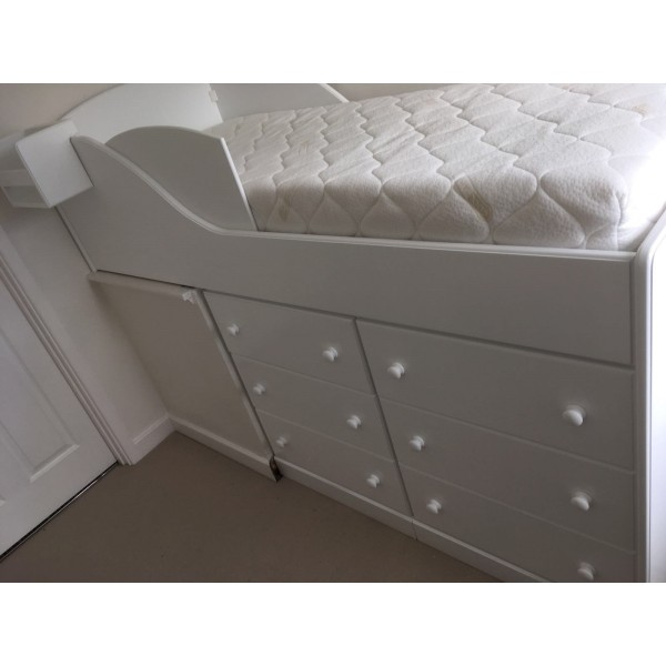 Mid Sleeper Bed For Older Children Over Stair Well Bulk Head