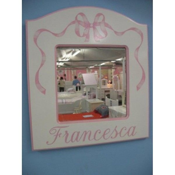 Mirror Plainer Style With Name & Ribbon
