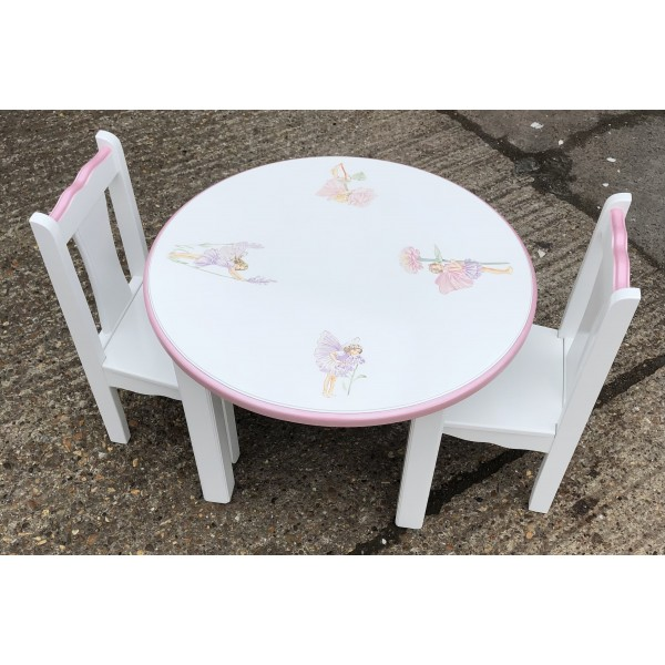 Fairy Artwork Strong Table And 2 Toddler Chairs