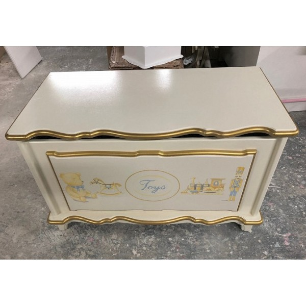 Toybox 3ft Off-White With Shimmering Gold