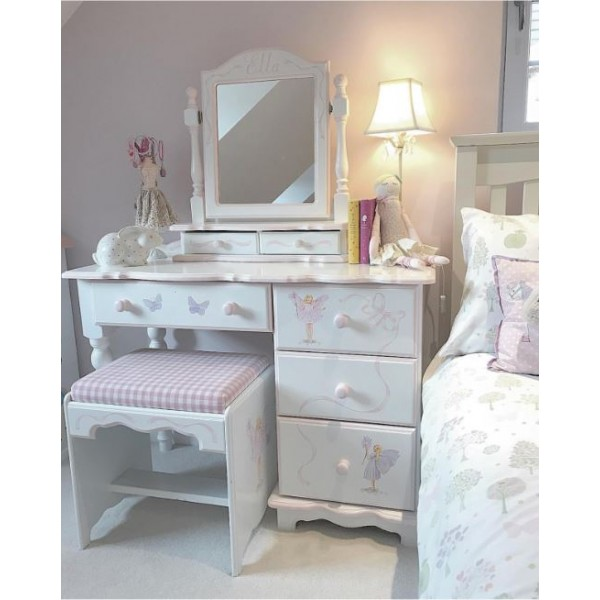 Fairy Dressing Table With Stool And Mirror
