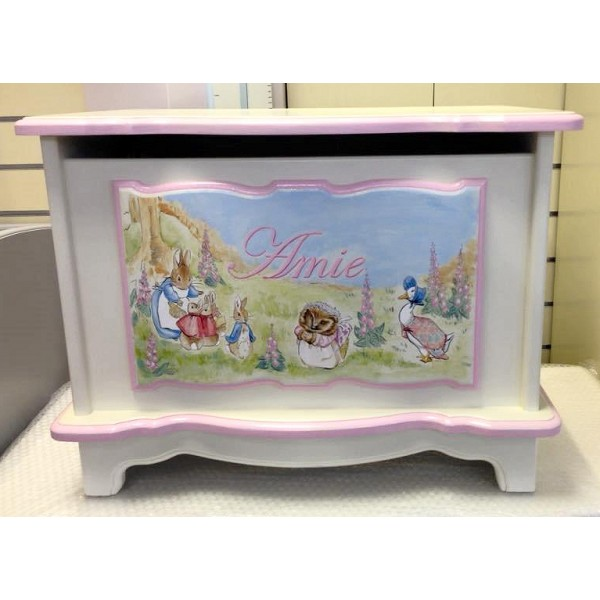 Toy Box 2ft  Peter Rabbit Scene Personalised