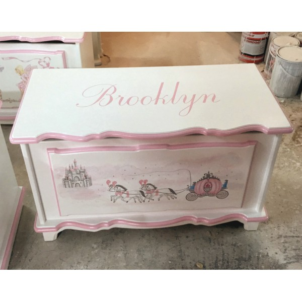 3ft Princess Carriage Fancy Toybox + Name