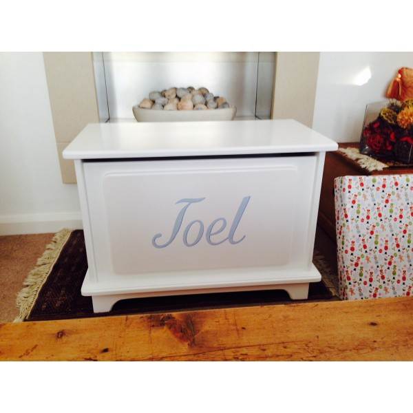 Personalised Plain Style Toy Box With Name
