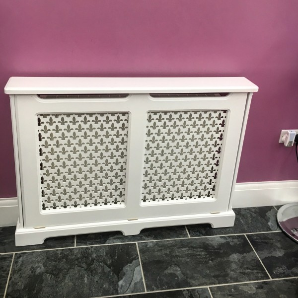 White Radiator Cabinet Cover Made To Measure