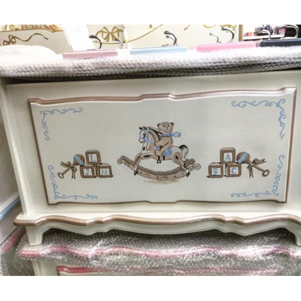 Rocking Horse And Bear 3ft Toybox