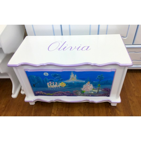 3ft Shimmering Castle Personalised Toy Box