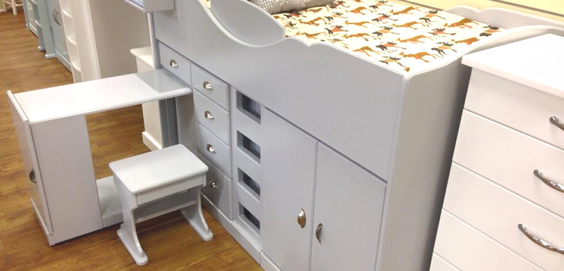 Chartley midsleepers include a pull-out desk and stool.