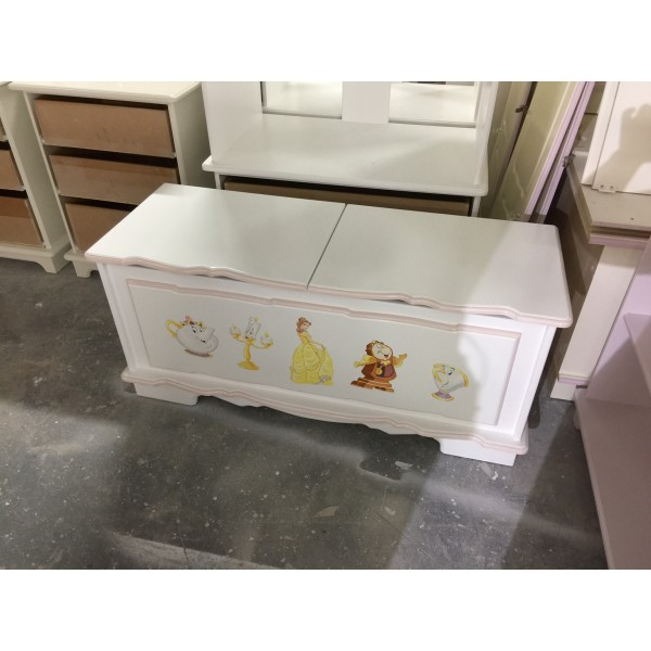 Toybox 4ft With Split Lid And Beauty Artwork