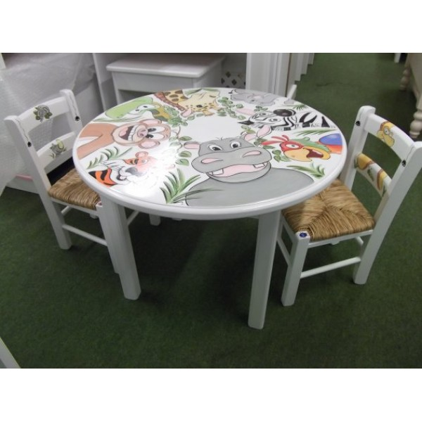 Table And 2 Chairs Jungle Fun