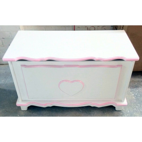 Personalised Toy Box In Fancy Style With Heart